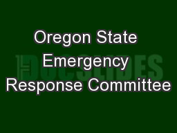 Oregon State Emergency Response Committee