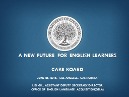 a new future for  english