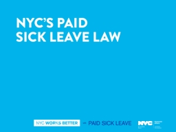 � The benefits of paid sick leave extend far beyond the positive impact on individual families. I