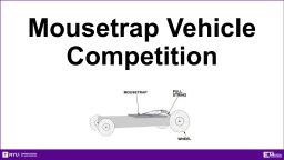 Mousetrap Car Competition