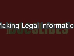 Making Legal Information