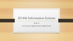 261446 Information Systems PowerPoint PPT Presentation