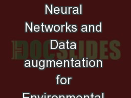 Deep Convolutional Neural Networks and Data augmentation for Environmental sound classification PowerPoint PPT Presentation