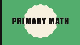 Primary math Literacy & Math Night at Military Trail