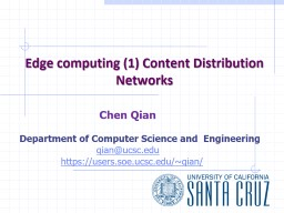 Edge computing (1) Content Distribution Networks