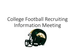 College Football Recruiting Information Meeting
