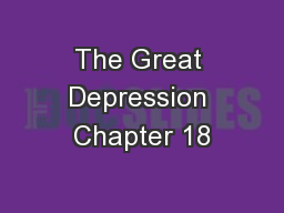 The Great Depression Chapter 18