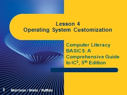 Computer Literacy BASICS: A Comprehensive Guide to IC