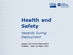 Health and Safety Hazards During Deployment
