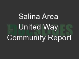 Salina Area United Way Community Report