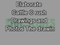 Elaborate Cattle C rush Drawings and Photos The drawin PowerPoint PPT Presentation