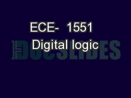 ECE-  1551  Digital logic