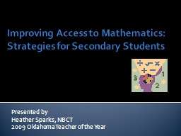 Improving Access to Mathematics: