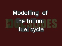 Modelling  of the tritium fuel cycle