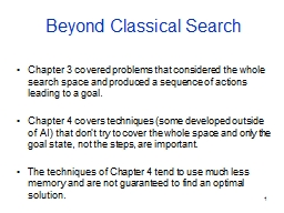 1 Beyond Classical Search