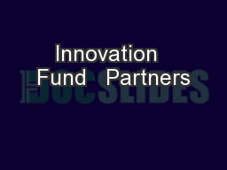 Innovation  Fund   Partners
