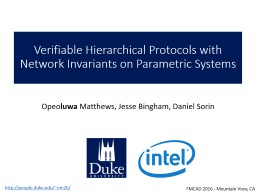 Verifiable Hierarchical Protocols with Network Invariants on Parametric Systems