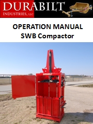 OPERATION MANUAL SWB Compactor