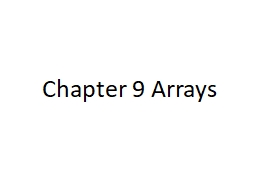 Chapter  9 Arrays What is an Array