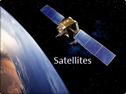 Satellites Why do objects move in a circle?