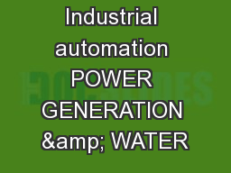 External ABB Industrial automation POWER GENERATION & WATER