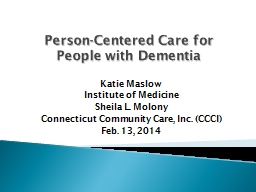 Person-Centered Care for PowerPoint PPT Presentation