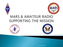 MARS & AMATEUR RADIO