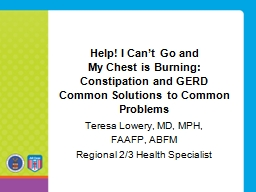 Help! I Can't Go and  My Chest is Burning:
