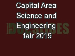 Capital Area Science and Engineering fair 2019