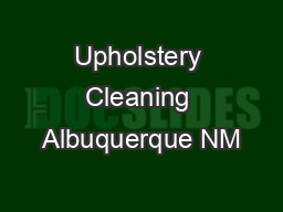 Upholstery Cleaning Albuquerque NM