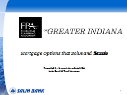1 Mortgage Options that Solve and