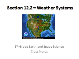 Section 12.2 � Weather Systems