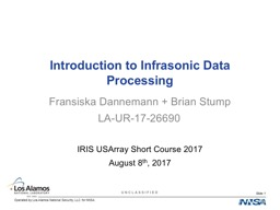 Introduction to Infrasonic Data Processing