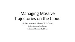 Managing Massive Trajectories on the Cloud