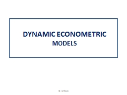 DYNAMIC ECONOMETRIC MODELS PowerPoint PPT Presentation