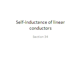 Self-inductance of linear conductors