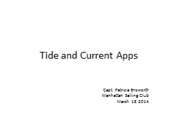 Tide  and  Current  Apps