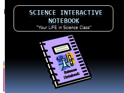 Science Notebook  SCIENCE INTERACTIVE