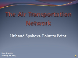 The Air Transportation Network