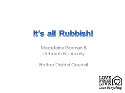 It's all Rubbish! Madeleine Gorman & PowerPoint PPT Presentation