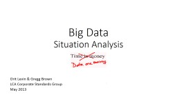 NIST BIG DATA WG Reference Architecture Subgroup