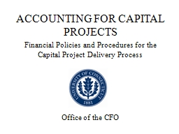 ACCOUNTING FOR CAPITAL PROJECTS