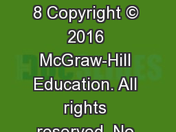 GLOBAL  MARKETING 8 Copyright © 2016 McGraw-Hill Education. All rights reserved. No reproduction o