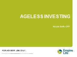 AGELESS INVESTING Nicole Boffo CFP