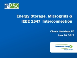 Energy Storage, Microgrids & IEEE 1547 Interconnection