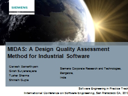 MIDAS: A Design Quality Assessment Method for Industrial Software