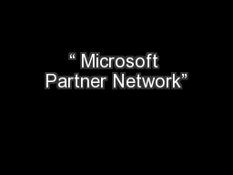 """ Microsoft Partner Network"""