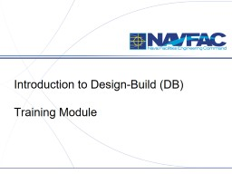 Introduction to Design-Build (DB)