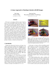 A Linear Approach to Matching Cuboids in RGBD Images H