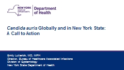 Candida  auris  Globally and in New York State: A Call to Action